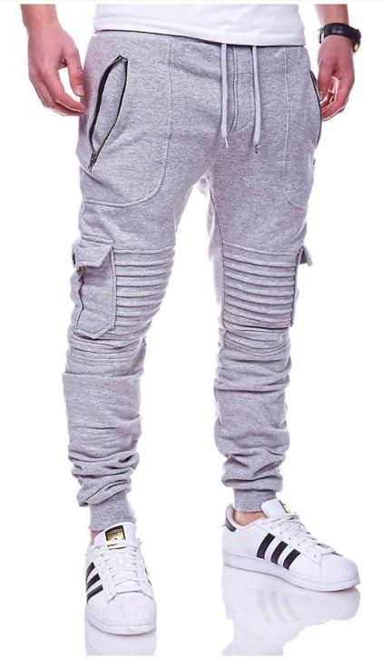 a8df6a4fc8 Compre Pantalones De Hombre Casual Zipper Jogger Pantalones Hombres Moda  2018 Otoño Pantalones De Chándal Ropa Crossfit Estilo De La Calle Moda A   30.43 Del ...