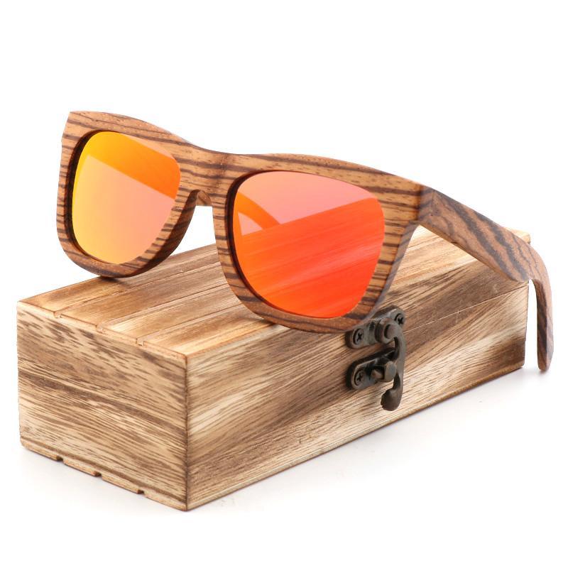fea841489a2 Brand Promotions Retro Men Polarized Sunglasses Good Quality Zebra Wood  Handmade Women Sun Glasses Gift Bamboo Box Wooden Wholesale Sunglasses Cool  ...