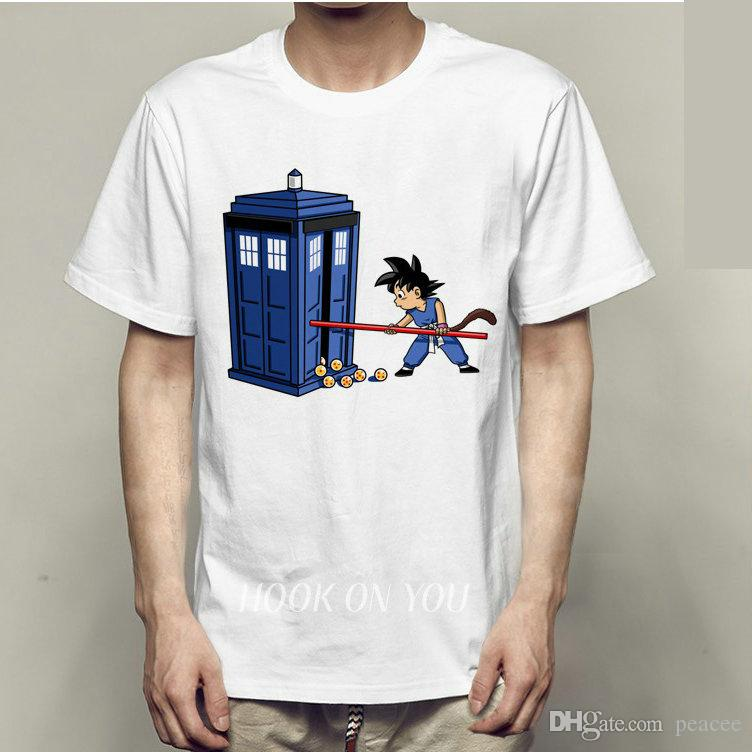 Telephone Booth T Shirt Dragon Ball Short Sleeve Gown Doctor Who ...