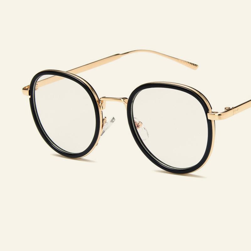 ad98d9b521 Compre Gafas De Metal De Aleación De Alta Calidad Venta Caliente Mujeres  Hombres Anteojos Ópticos De Los Estudiantes Miopía Prescripción Gafas Marco  A ...