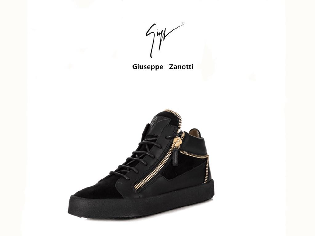 5d668db45d7a Giuseppe Zanotti Running Shoes Women Christian Louboutin 100% Leather  Sneaker Men GZ Luxury Brand Zipper Shoes High Top Shoe Wedding Shoes