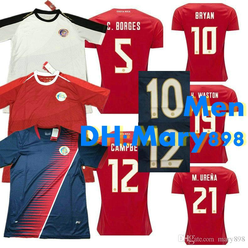 4651fdead 2019 Top Thai Quality 18 19 World Cup Costa Rica National Team Home Away Soccer  Jersey 2018 2019 Gold Cup Blue Football Shirt Size S M L XL From Mary898