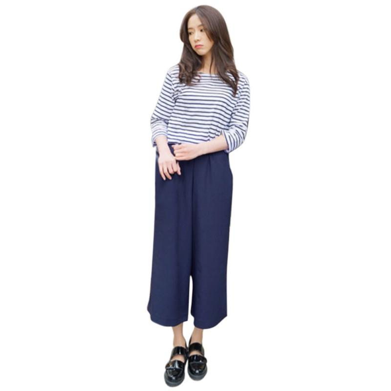9ba51f17165 Pants Women 2019 Summer Nine Pants Casual High Waist Elastic Wide Leg Pants  Solid Colors Fashion Trousers Plus Size 5XL Online with  31.92 Piece on ...