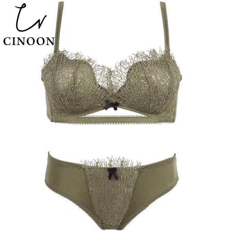 df60398e20 CINOON 2018 New Lingerie Push Up Underwear Lace Bra Sets Bow Brassier And Panties  Hot Sale Lingerie Set Thin Cup for Women Bra   Brief Sets Cheap Bra ...