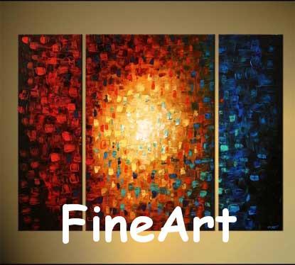 2018 100% Handmade Canvas Art Sets Oil Canvas Bright Color Large ...