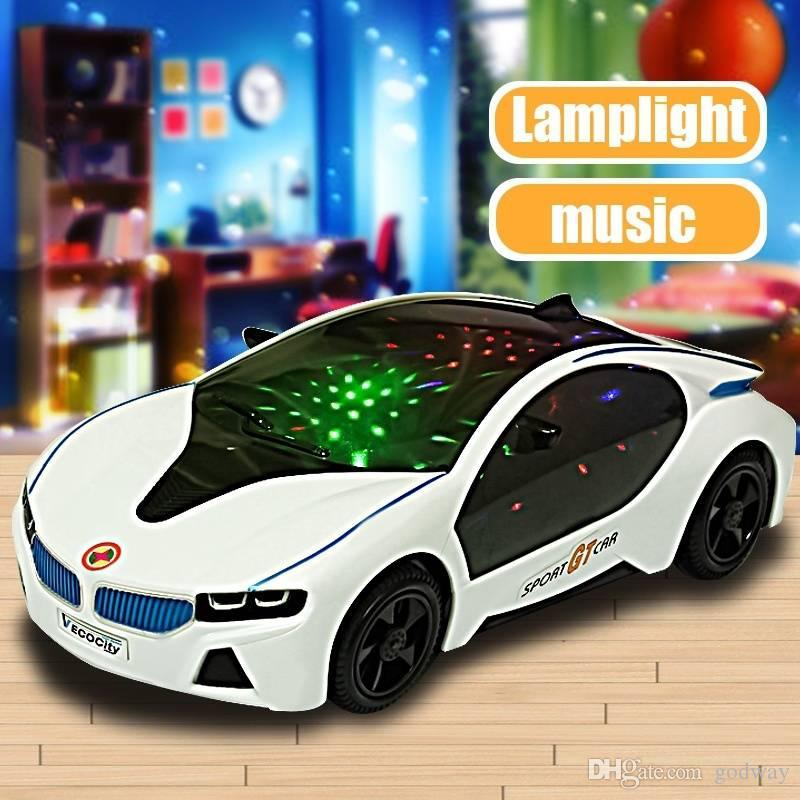 2019 Cool New Car Flashing Led Led Light Music Sound Electric Toy