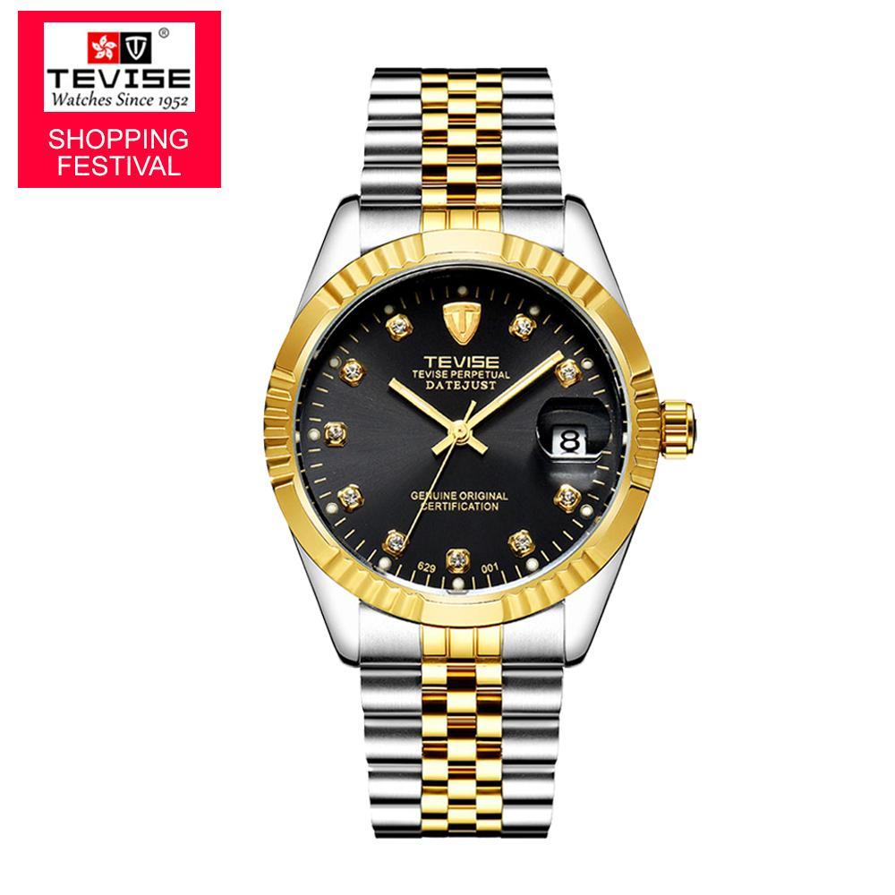 0231c412cb1 Compre TEVISE Marca Relógio Das Mulheres Dos Homens Semi Automático Relógios  De Luxo Da Moda Relógio Mecânico À Prova D  Água Luminosa Esporte Casual ...