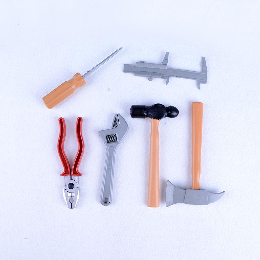 Best Selling DIY Construction 1 set (6 pcs) Plastic Building Tool Kits Set  Baby Pretend Play Toys Boys Builders Kids Toys Tool