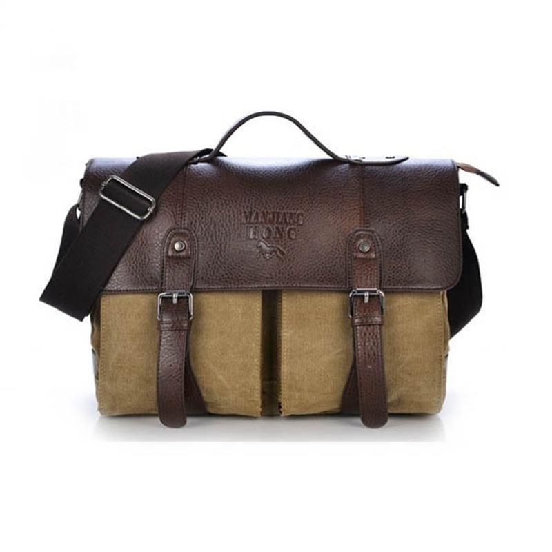 Wholesale- Men Shoulder Casual Business Canvas Messenger Bag Satchel ... 3e4c058c19
