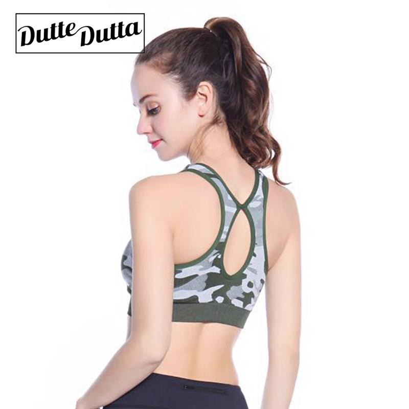 0ccc2f6c0c 2019 Woman Hollow Push Up Sports Top Yoga Sport Bra Camo Crop Brassiere  Fitness Gym Bh Active Wear For Women S Sportswear Female From Shanquanwat