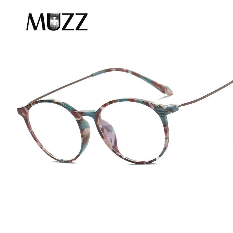 2018 MUZZ Glasses Frame Alloy Glasses Fake Clear Lens Transparent ...