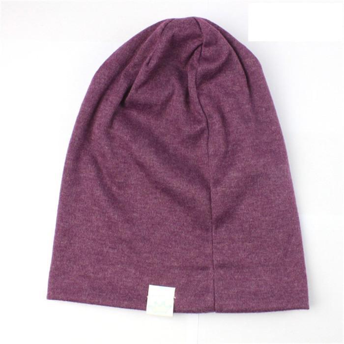Venta caliente es moda niños Sombrero hecho punto Color puro sombreros del bebé corona suave sombreros orejas cubierta T3I0348