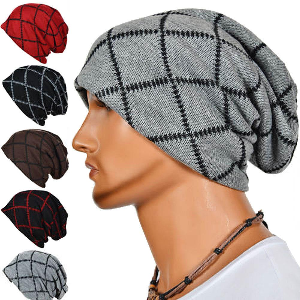 2019 Mens Slouch Cap Knitted Hip Hop Hat Winter Warm Skateboard Beanie  XRQ88 From Moonk 627bd872ff8