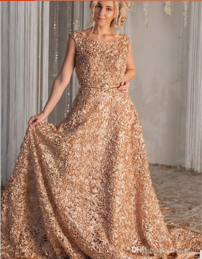 40bef10284e4 2018 Red Carpet Celebrity Arabic Indian Elie Saab Gold Formal Evening Prom Party  Gowns Dresses Flowers Evening Wear Dress Abaya Abendkleider Evening Dresses  ...