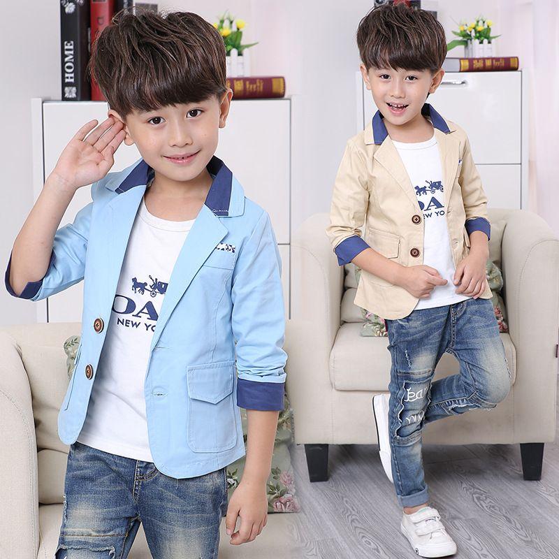 7e08a416e04b Autumn Boy Blazer Jacket New Arrival Clothing Baby Boys Coat Cotton ...