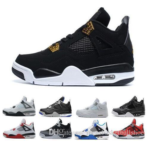 5e4e8c3ebc0e8 Acheter Pas Cher Vente Chaude 4 4s Chaussures De Basket Ball Pour Hommes  High Top Formation Sneaker À Lacets D'origine Basket Ball Sneakers Hommes  ...