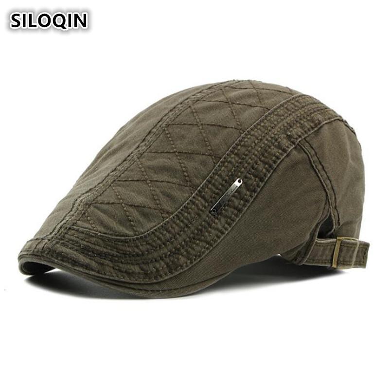 923b2d151fd4b SILOQIN Women s Caps 100% Cotton Retro Berets For Women British ...
