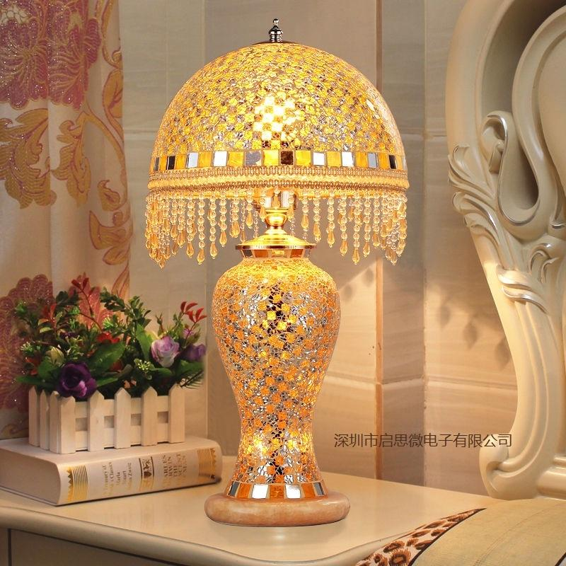 Remarkable European Newest Hand Inlaid Glass Mosaic Bedroom Living Room Decorative Table Lamps Of Mediterranean Style Turkish Lamps Interior Design Ideas Clesiryabchikinfo