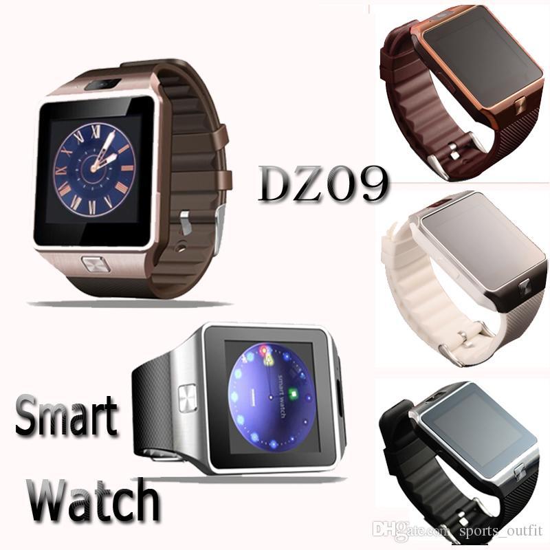 344fe335e92b1 Relojes Digitales Reloj Inteligente DZ09 Con La Cámara Bluetooth Reloj De  Pulsera Tarjeta SIM Smartwatch Para IOS Teléfono Android Soporte SIM  Teléfono ...
