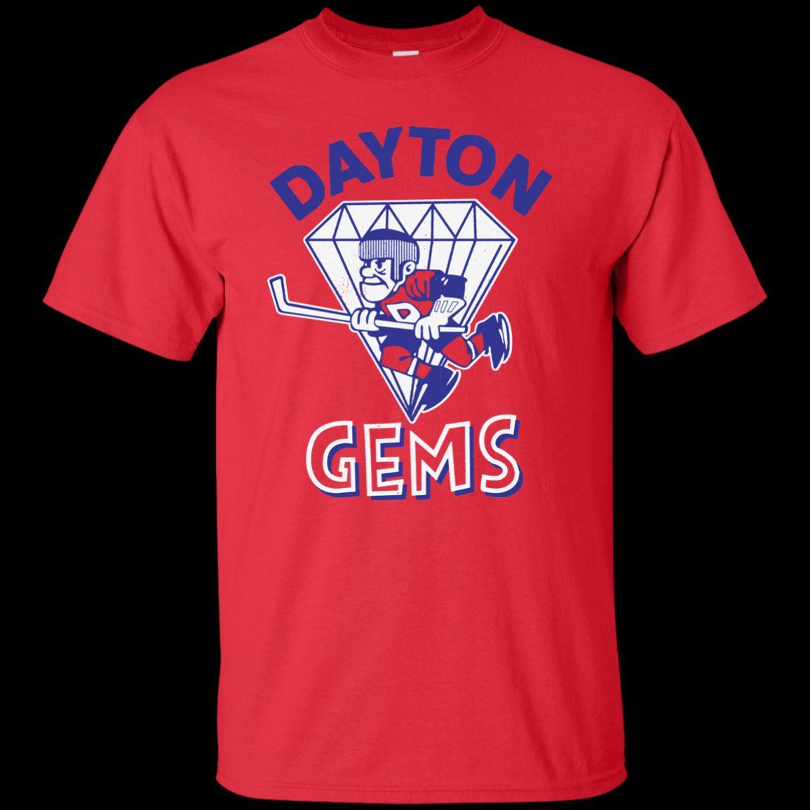 Dayton Gems Retro Hockey 1970 S 1980 S Jersey Logo Support Dropship T Shirt  T Shirt Men Man S XL 3XL Custom Short Sleeve Boyfriend S 3XL T S Really  Funny ... cab2189fa
