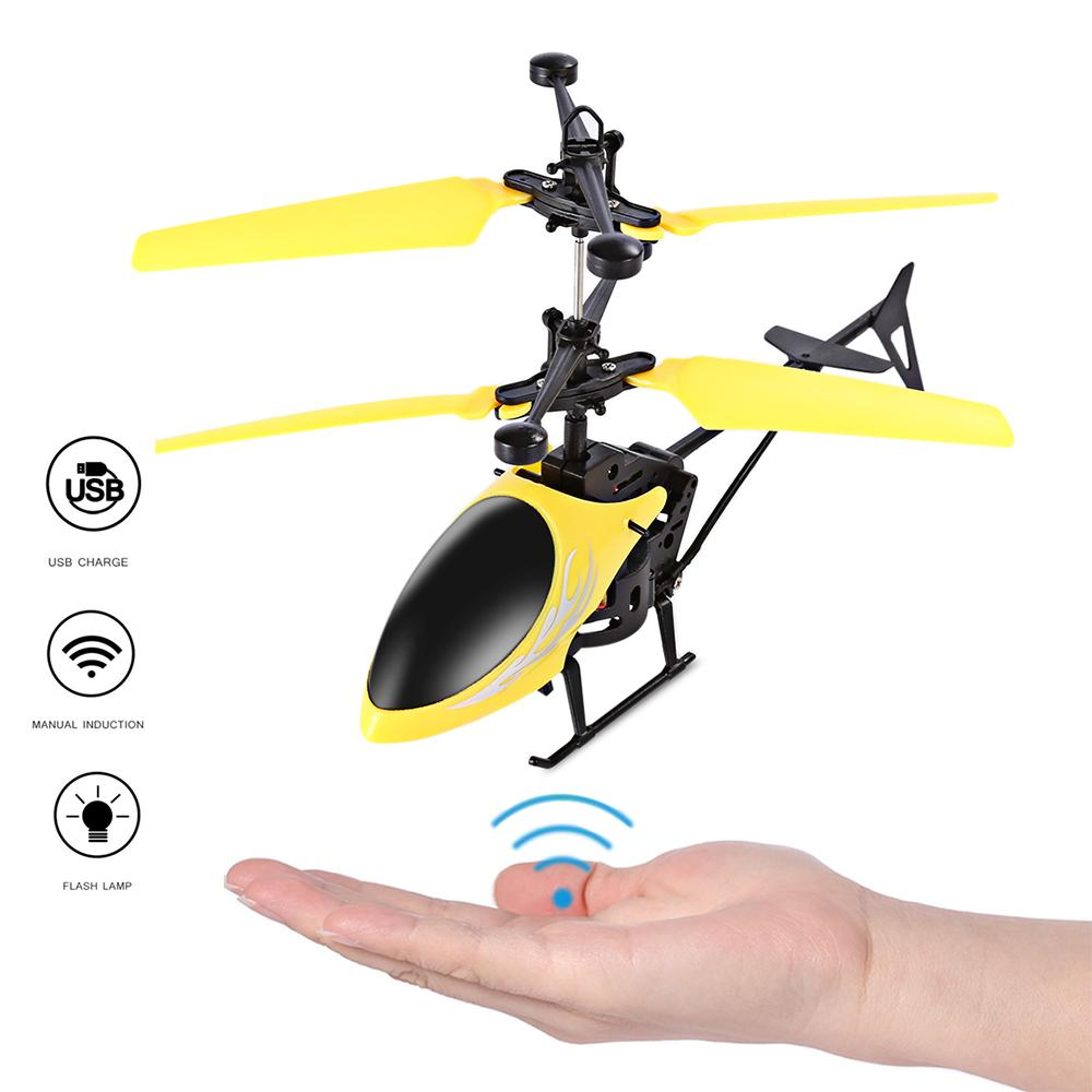 Fun Rc Helicopter Toy Induction Flying Drone With Shinning Led