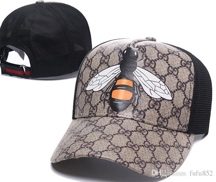 c53597788e1a Fashion Strapback Cap Bee Tiger Wolf Canvas Men Women Hats Brand ...