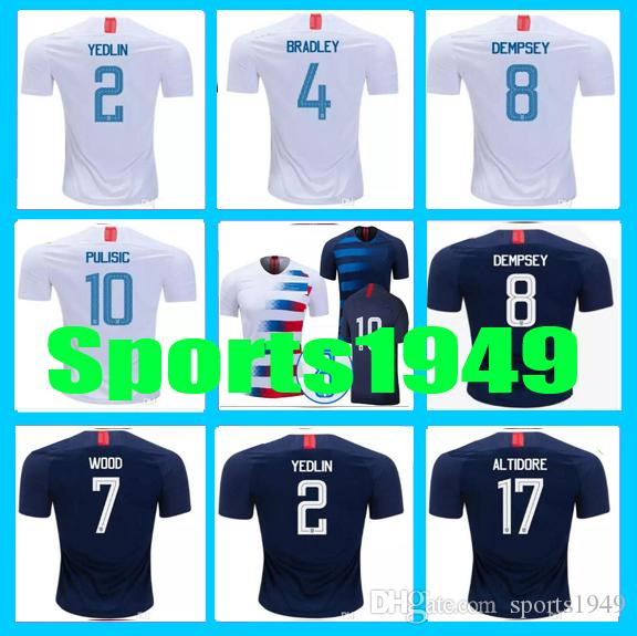 212b5e05e 2019 New Rugby 2018 2019 Jersey USA DEMPSEY #8 DONOVAN BRADLEY ALTIDORE 18  19 Home Away United States Jerseys 10 Or More Free To Send DHL From  Sports1949, ...
