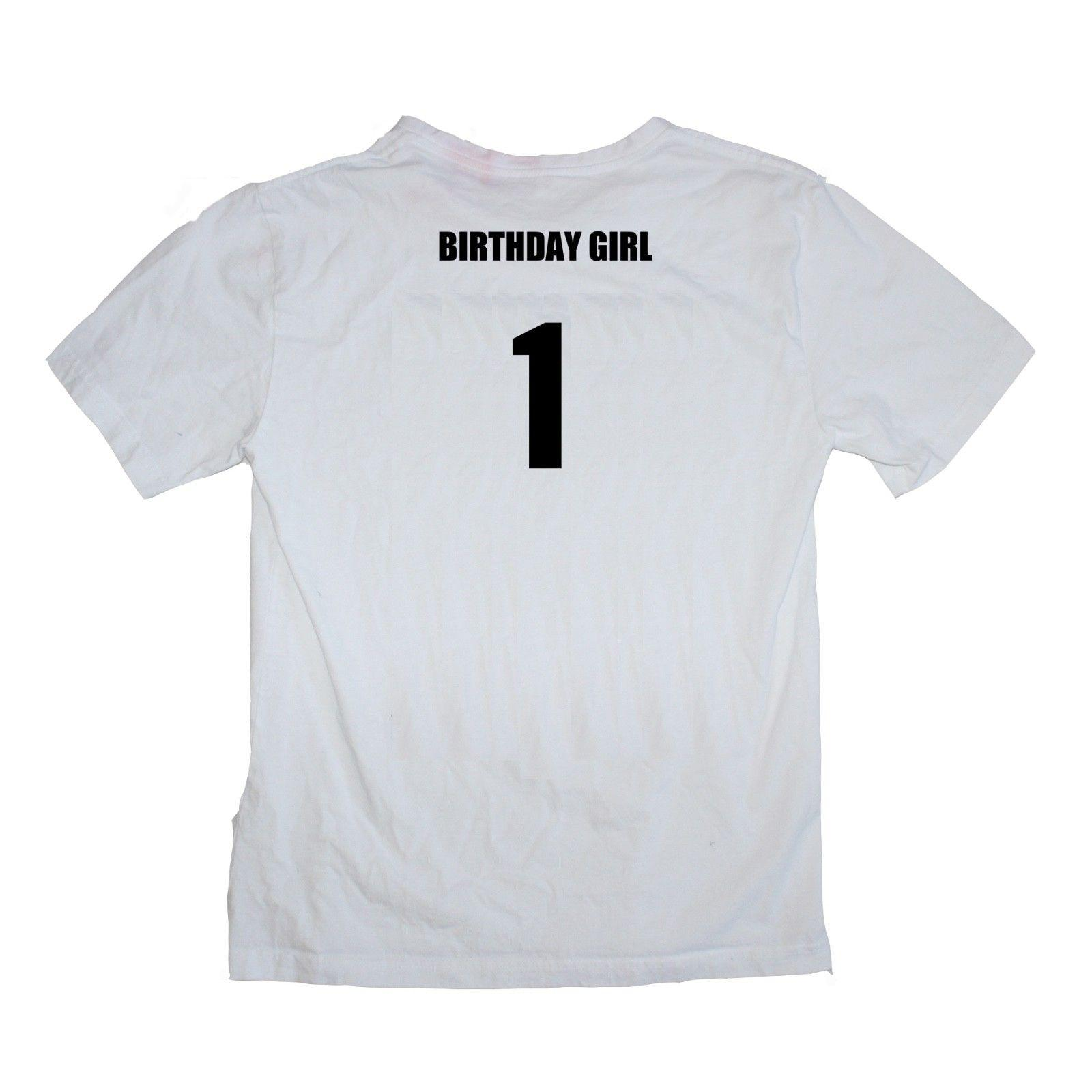 Birthday Girl 1st First One Year Old Female Baby Shirt Many Colours T Shart Fun Shirts From Hallionclothing 1101