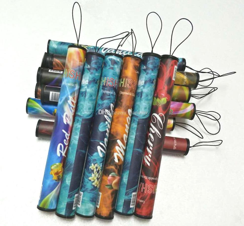 Wholesale ShiSha Time E Hookah 500 Puffs Pipe Pen Electronic Cigarette Stick Sticks Shisha Hookah disposable