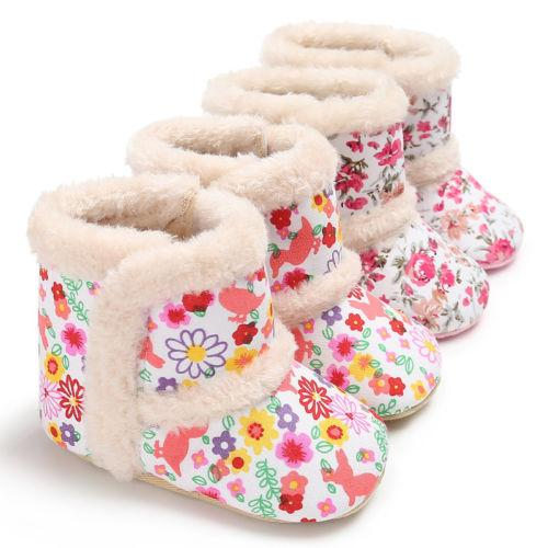 744ab0da48f15 Newborn Kids Baby Girl Snow Boots Shoes Infantil Girls Winter Warm ...