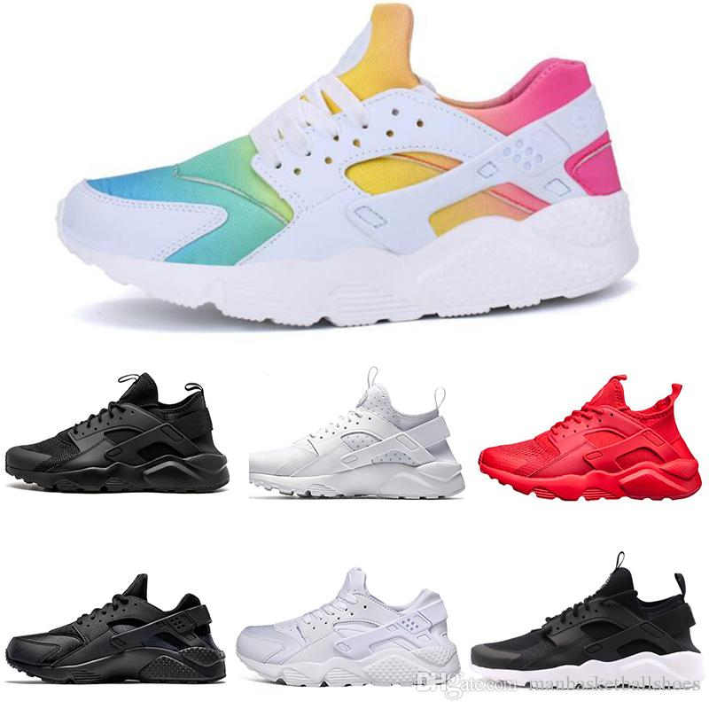 timeless design 8bced 92411 Acquista Nike Shoes Free Run Huarache Ultra BR 4.0 5.0 Scarpe Da Corsa Uomo  Donna Triplo Nero Giallo Oro Giallo Rosso Huaraches Scarpe Da Ginnastica  Outdoor ...