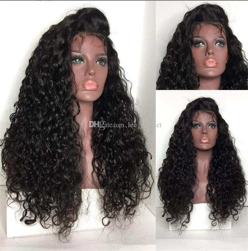 Glueless Full Lace Human Hair Wigs For Black Women 130% Brazilian Afro Kinky Curly Wig Natural Lace Front Human Hair Wigs