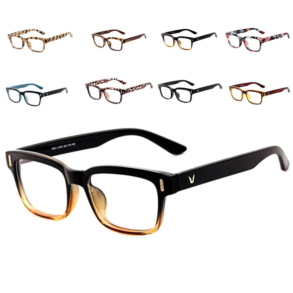 e87f23a88df Fashion V-Shaped Box Eye Frames Brand For Men New Women Computer Frames  Eyewear Vintage Armacao Oculos De Grau Online with  2.17 Piece on Super03 s  Store ...