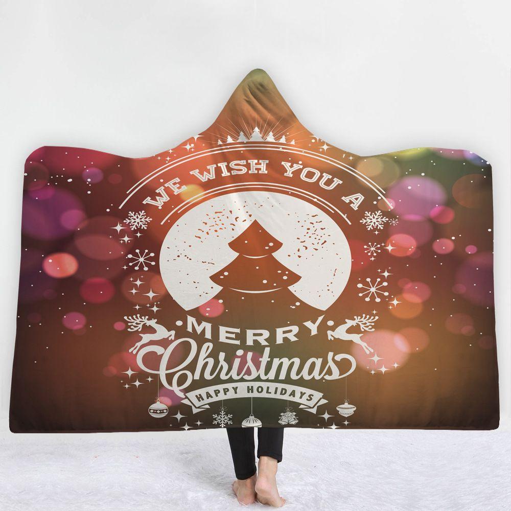 Großhandel Cilected Cartoon Weihnachten Englisch Mit Kapuze Decke