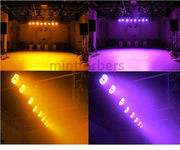 MFL Actualiza * 18w 6en1 RGBWA + UV 6 / 10CH LED Par Can DJ Barra de iluminación de la etapa luz de la igualdad para el concierto Churth partido 4-Pack