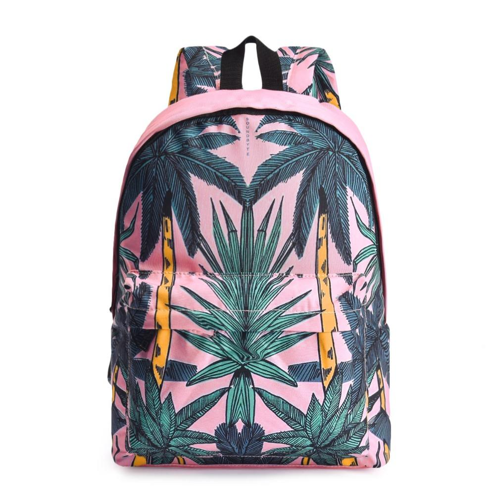 21d1cf33a1 New Youth Canvas Women Backpacks Pink Flower Printing Female Laptop  Backpack Lady Daily School Bagpack For Teenage Girls School Bags Messenger  Bags From ...