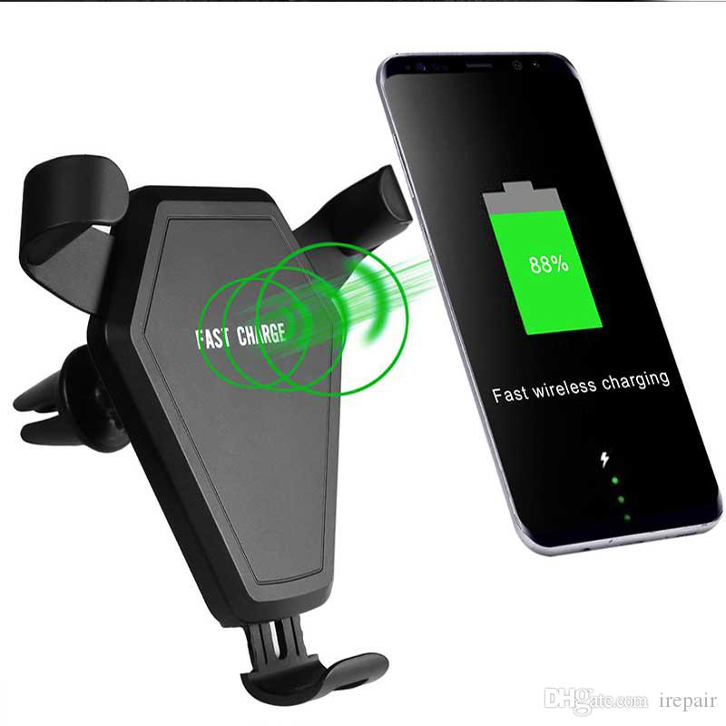 on sale ca8cd f725d Car Mount Qi wireless charger For iphone X 8 Plus Air vent Car wireless  charger 360 Rotation Dual use Charging for Samsung S9 S8