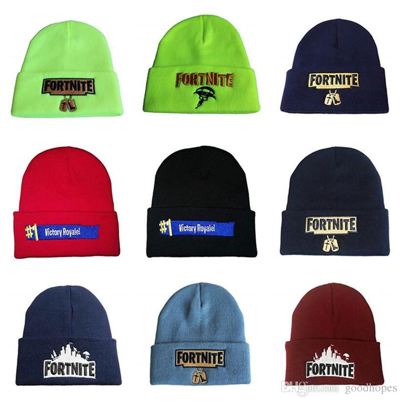 Beanie Hat Battle Royale Knitted Hat Hip Hop Embroidery Knitted Caps  Teenager Winter Warm Skull Beanies Knit Hats Cheap Hats From Goodhopes 4d0618863d8