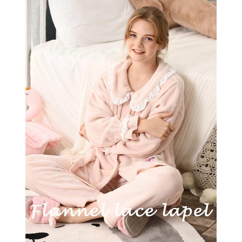 brand new a5240 2a55d Flanellverdickung Pyjama Schwangere Kleidung Frauen Still-Nachtwäsche Set  Maternity Christmas Pyjamas TopsTrousers Suits Nachtwäsche