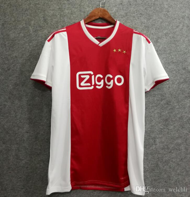 2019 Perfect 18 19 Ajax Home Red Soccer Jerseys Big Size XXL XXXL 4XL  Custom Name Number DOLBERG 25 Football Shirts AAA Quality UCL Patch From  Welchli 84ced64eb