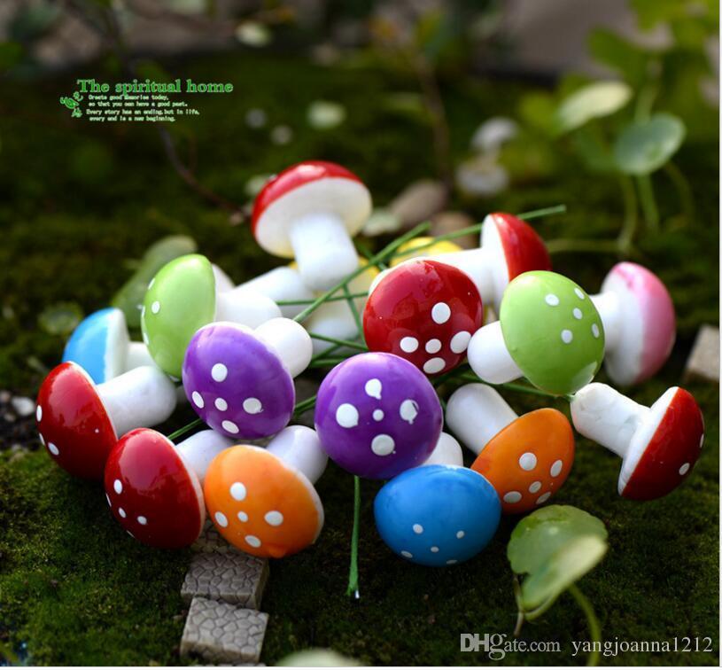 3cm Moss micro landscape decoration Foam Mini Mushroom Artificial DIY  Miniatures Fairy Garden Accessories Moss Terrarium Crafts Zakka