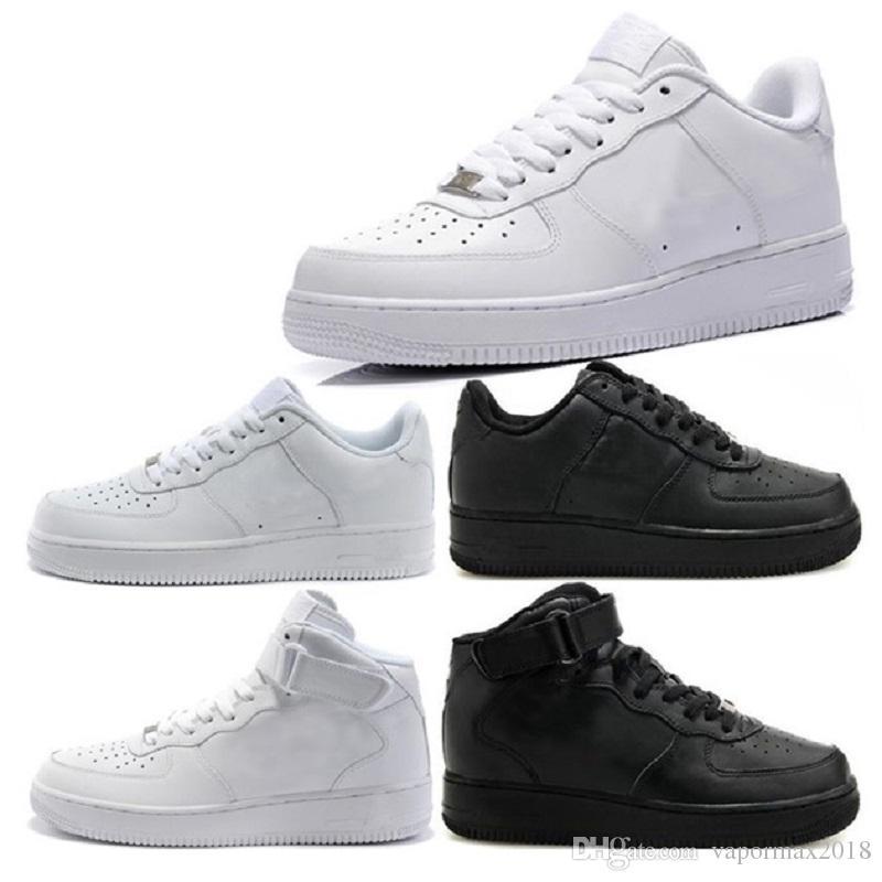 4ea4daed7bf3f Compre Nike Air Force 1 One Flyknit NUEVA Calidad Superior NUEVO Sirve La  Moda Los Zapatos Blancos Altos Bajos Altos Mujeres Negros Amor Los Unisex  Unos 1 A ...