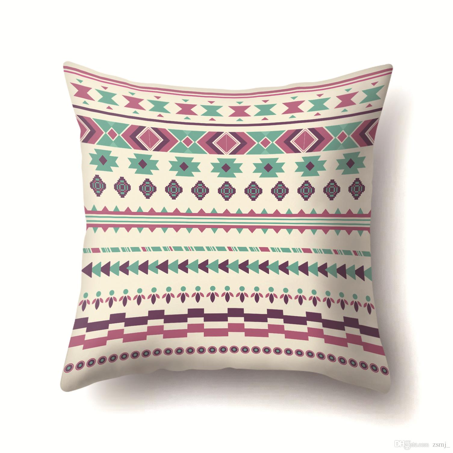 Bulk Lots 38 Designs Bohemian Pattern 45 45cm Household Fabric Cushion Covers Bedroom Set Christmas Gifts Home Decor Party Decoration