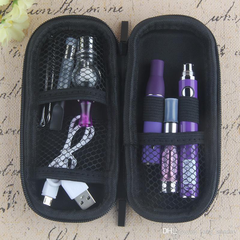 Electronic Cigarette Kit Evod 4 In 1 vape pen evod battery with 4 atomizer for dry herb Vaporizer ce3 tank ago e hookah