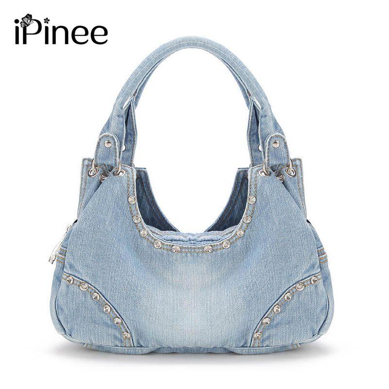 6593cf42c02f IPinee Fashion Women Denim Handbags Sweet High Quality Handbags With Diamond  Ladies Tote Bag Messenger Bags Best Handbags Handbags Sale From Bestname