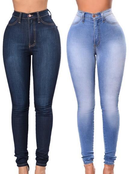 b43da46d25d4 2018 modelos de explosión de moda jeans ajustados nuevas para mujer  Pantalones delgados del lápiz Pantalones elásticos de cintura alta