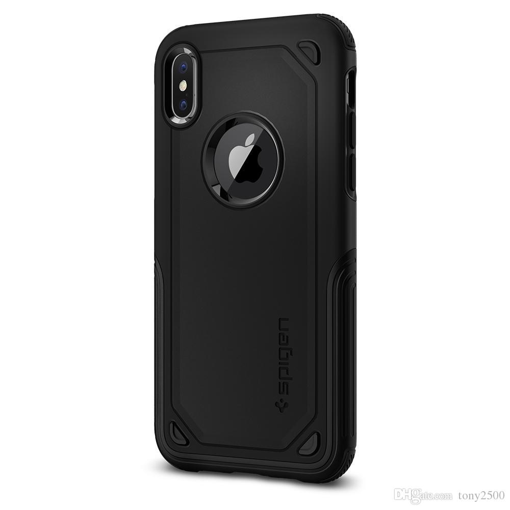 iphone11 pro max için SGP spigen Hibrit Zırh Çift Katmanlı Sert Kılıf Ağır Hizmet Defender Darbeye Koruyucu x 8 7 artı 6s artı s9 s10 note10