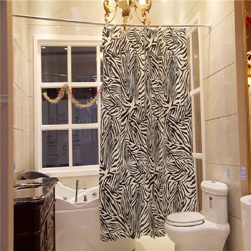 Attirant 2018 Yl08 Bathroom Polyester Fabric Shower Curtain Waterproof Black And  White Sexy Zebra Bath Decor Striped Curtain With 12 Hooks From Sophine11,  ...