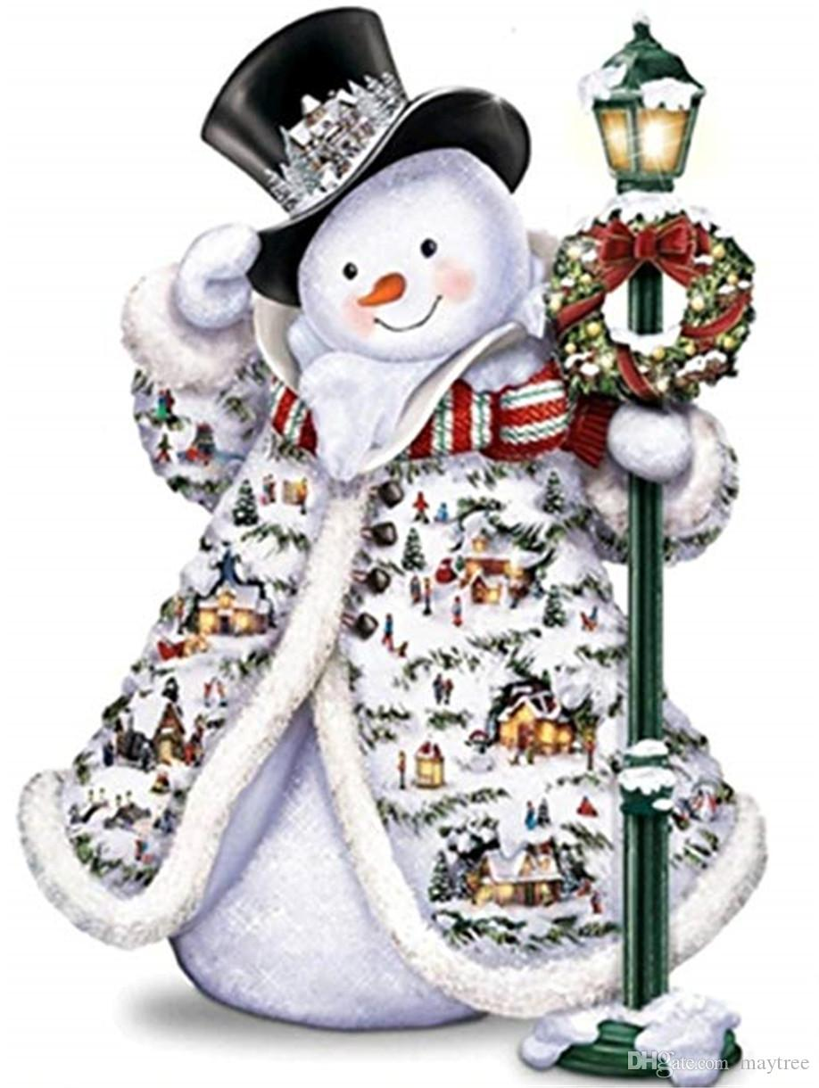 Full Drill 5D Diamond Painting -Christmas Snowman2 Arts Craft for Home Wall Decor Festival Gift DIY Diamond Painting Kits