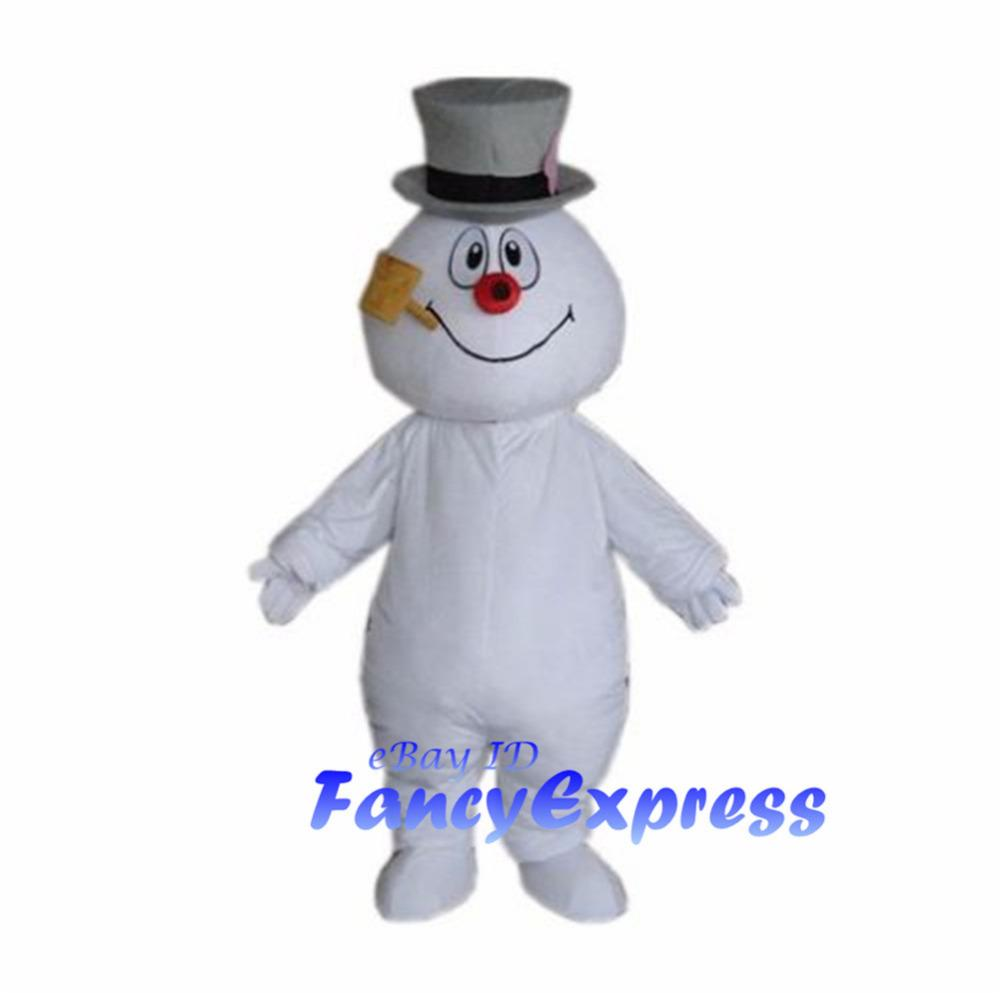 Frosty The Snowman Mascot Costume Christmas Fancy Party Dress Adult ...